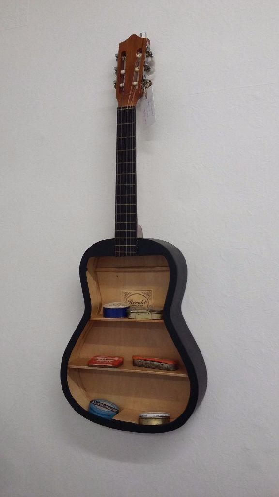 Vintage Upcycled Guitar Shelf Storage In Hereford