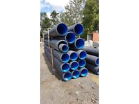 Twinwall unperforated Drain Pipe for Surface Water Drainage 300mm x 6m. Polypipe