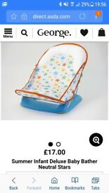 Summer Infant Deluxe Bath Seat Neutral Stars