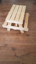 Handmade picnic bench *for display only*