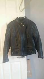 Ladies leather motor cycle jacket size 14