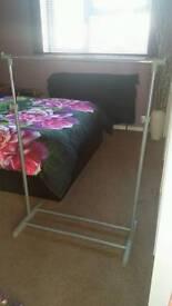 Adjustable clothes rails x 2