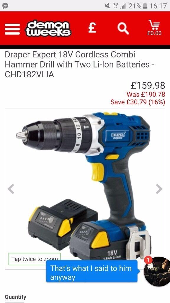 Brand new draper drill