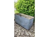 Reclaimed Vintage Orginal Galvanised Riveted Water Tank, Ideal Feature Planter.