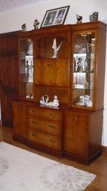 McDonagh cherry wood display/storage & drinks cabinet