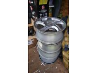 4x100 Silver Alloy Wheels 16x6.5J ET45 for Prelude, Civic, MX5 ETC