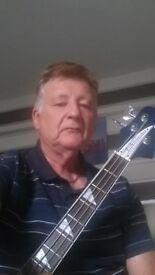 mature bass guitarist seeks work