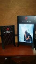 2 x Tudor ex display signs used
