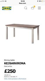 Ikea Dining table and 1 bench 2 years old still in great condition. Can deliver.