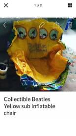The Beatles/yellow sun blow up chair