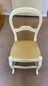 Cream upholstered chair