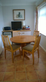 Lovely Extending Table and 4 Chairs G Plan Style