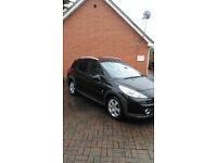 PEUGEOT 207sw OUTDOOR ESTATE 1.6HDI110 2007 IN BLACK,