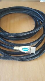 HDMI CABLE- GOLD PLATED- 5METRES- NEW