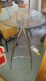 Glass top breakfast dining table.