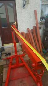 Fixed frame engine crane 3 tonne