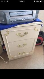 Bed side draws table unit