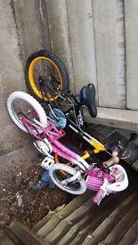 2 childrens bike