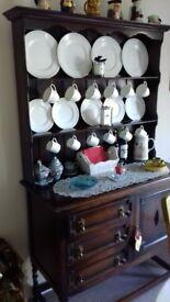 Lovely old dark wood dresser. 1 x cupboard & 3 x drawers on base. £45.00