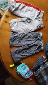 2 pairs of 6-9 mth boys trousers