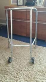 Height adjustable adult mobility frame