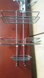 3-Tier Chrome Wire Shower rack (52 x 25 x 11 cm) - Silver