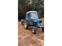 Ford 4000 tractor with tipping trailer and hydraulic forklift