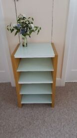 Hi-Fi / Shelving unit with glass shelves in excellent condition