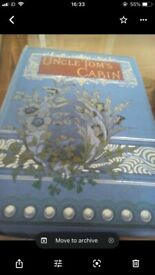 Uncle Tom's Cabin book. Old