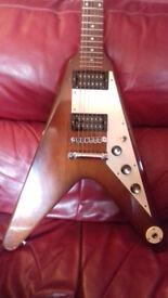 Gibson Flying V-Natural burst-Ltd edition.