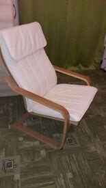 IKEA POANG - Armchair, oak veneer, Alme natural