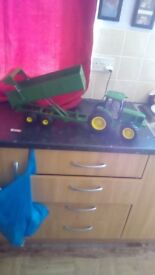Toy tractor and trailer