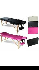 Pink folding massage bed