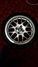 """4 x genuine BBS rims with tyres, 16"""", RX214"""