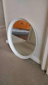 Round white mirror Langesund 602.886.83 Ikea