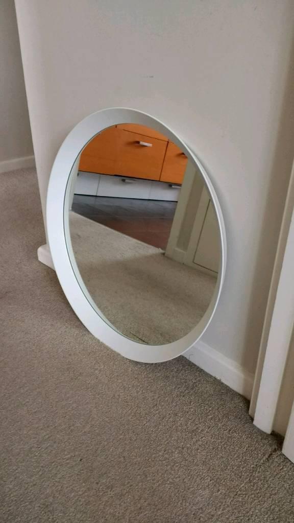 Round White Mirror Langesund 602 886 83 Ikea