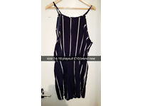 navy pinstripe playsuit size 14-16