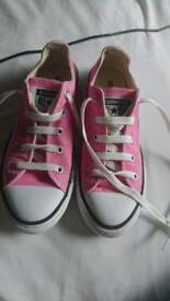 Pink Converse All Stars trainers Size 2