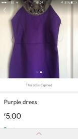 Purple embellished dress