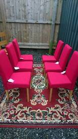 Dining chairs X 6 brand new