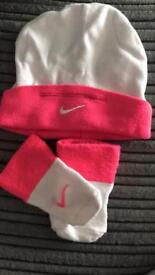Nike baby hat and boots