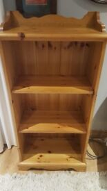 Wooden shelving unit. Solid pine