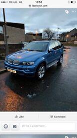 Eristrol blue BMW X5 v8 315 bhp petrol ***