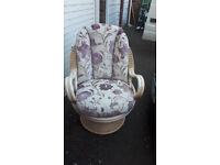 bamboo swivel/rocking chair