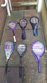 tennis racquets free - standing
