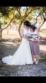 Beautiful Ivory lace Wedding dress size 10-12 only worn once, £450 inc dry cleaning