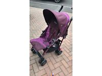 Silver cross stroller with raincover