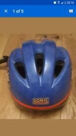 Sonic the hedgehog kids helmet