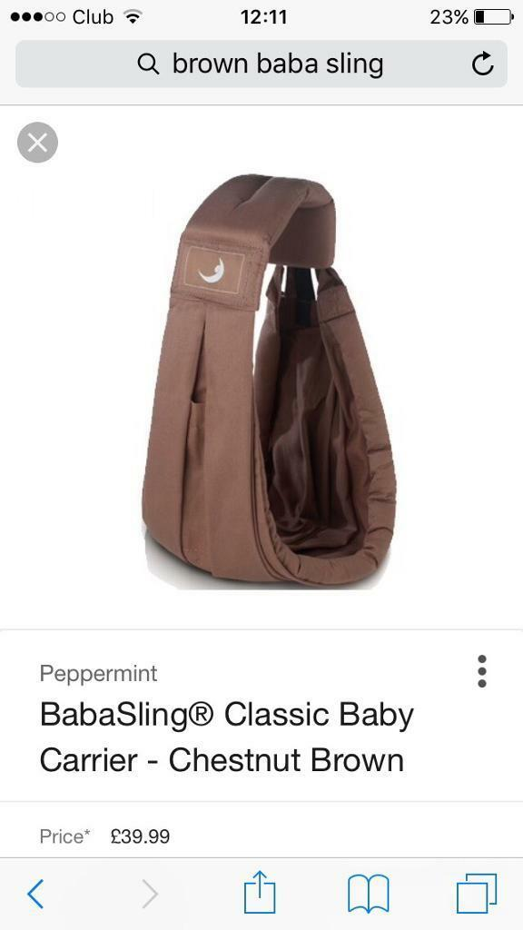 Brown BabaSling baby carrier