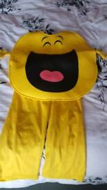 Mr happy costume. One size.